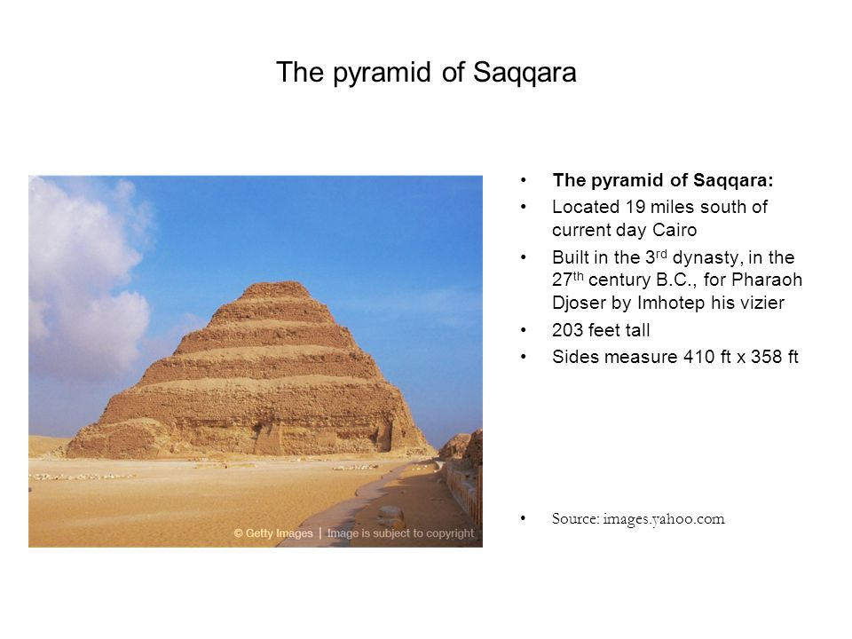 The pyramid of Saqqara The pyramid of Saqqara: