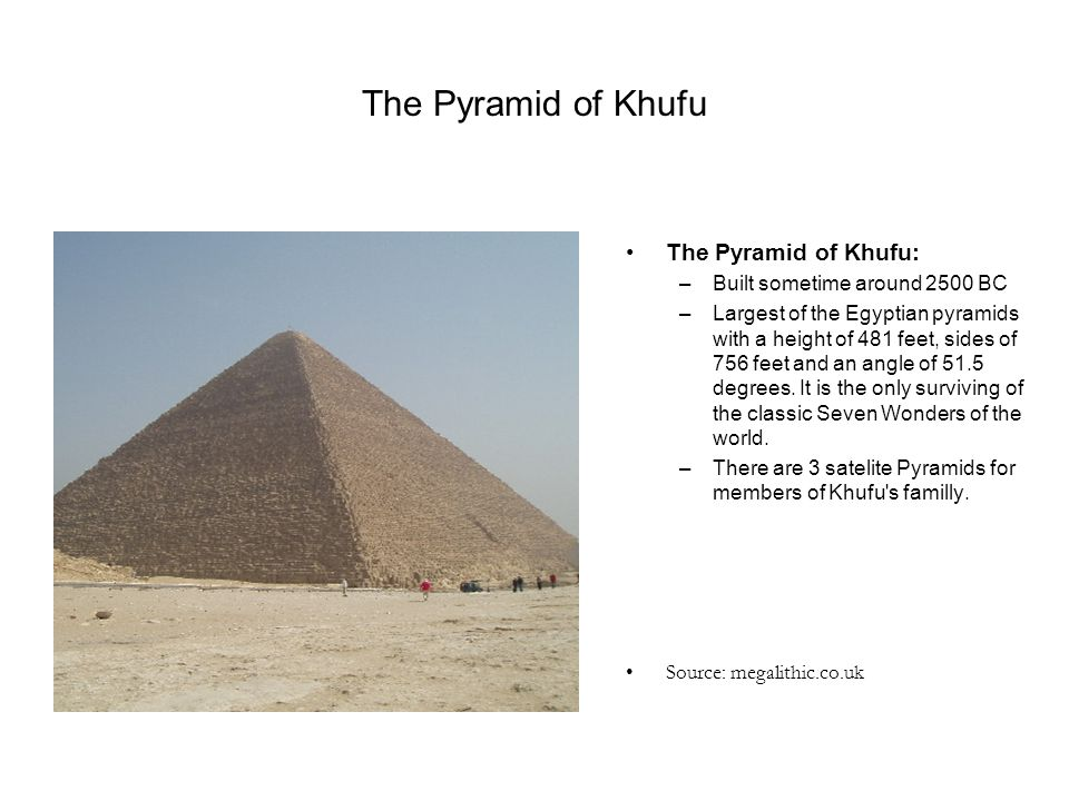 The Pyramid of Khufu The Pyramid of Khufu: