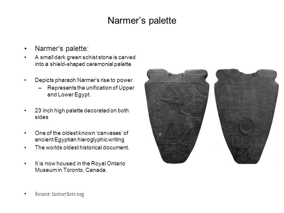 Narmer's palette Narmer's palette: