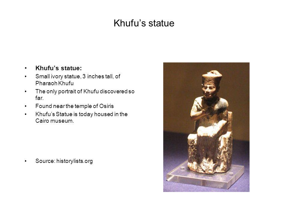 Khufu's statue Khufu's statue: