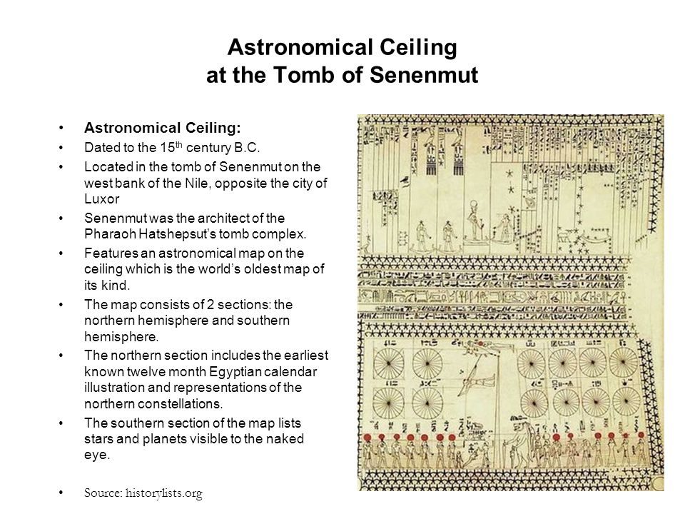 Astronomical Ceiling at the Tomb of Senenmut