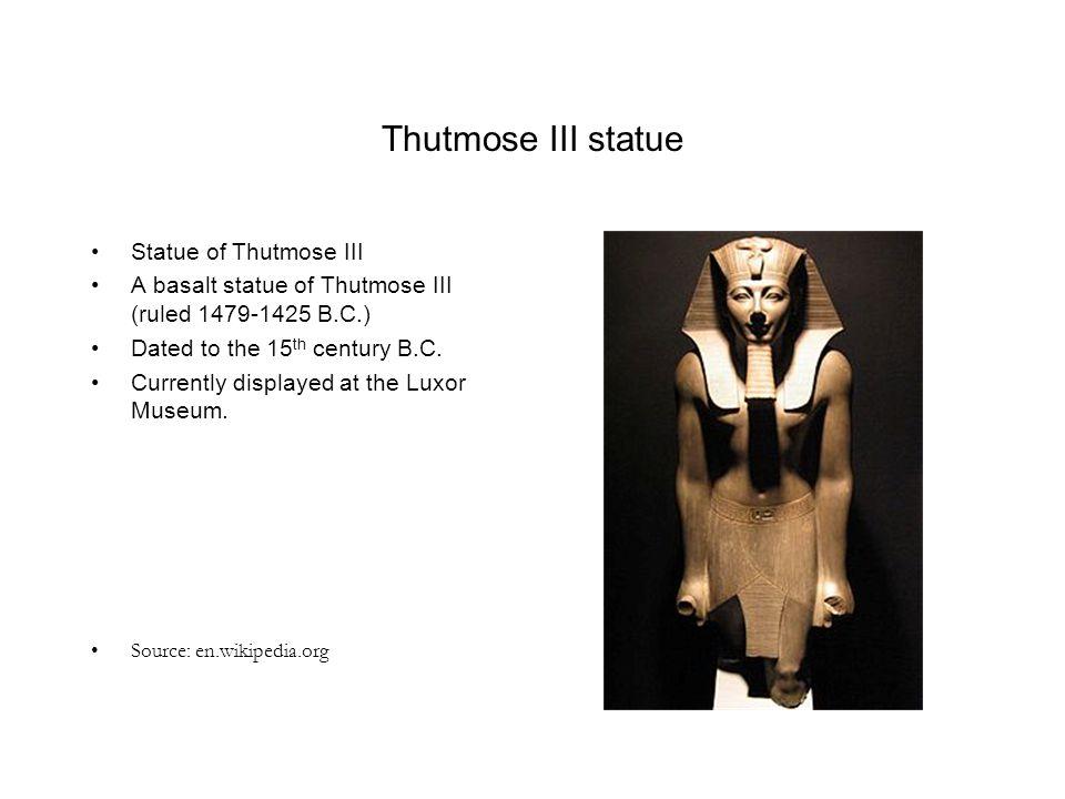 Thutmose III statue Statue of Thutmose III