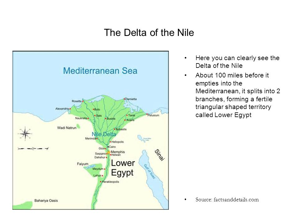 The Delta of the Nile Here you can clearly see the Delta of the Nile