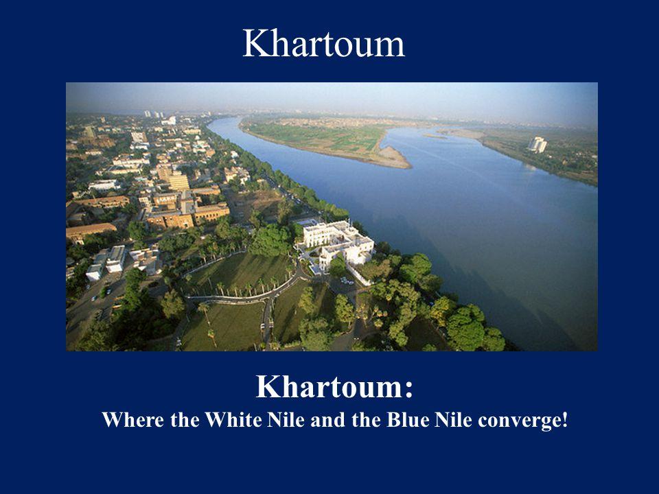 Where the White Nile and the Blue Nile converge!