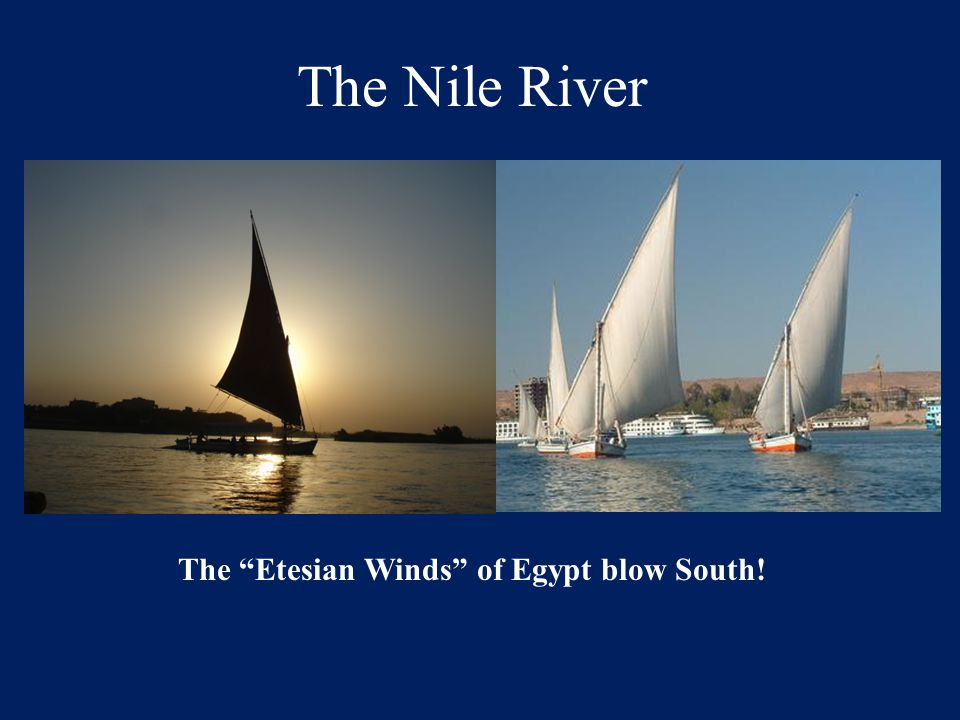 The Etesian Winds of Egypt blow South!