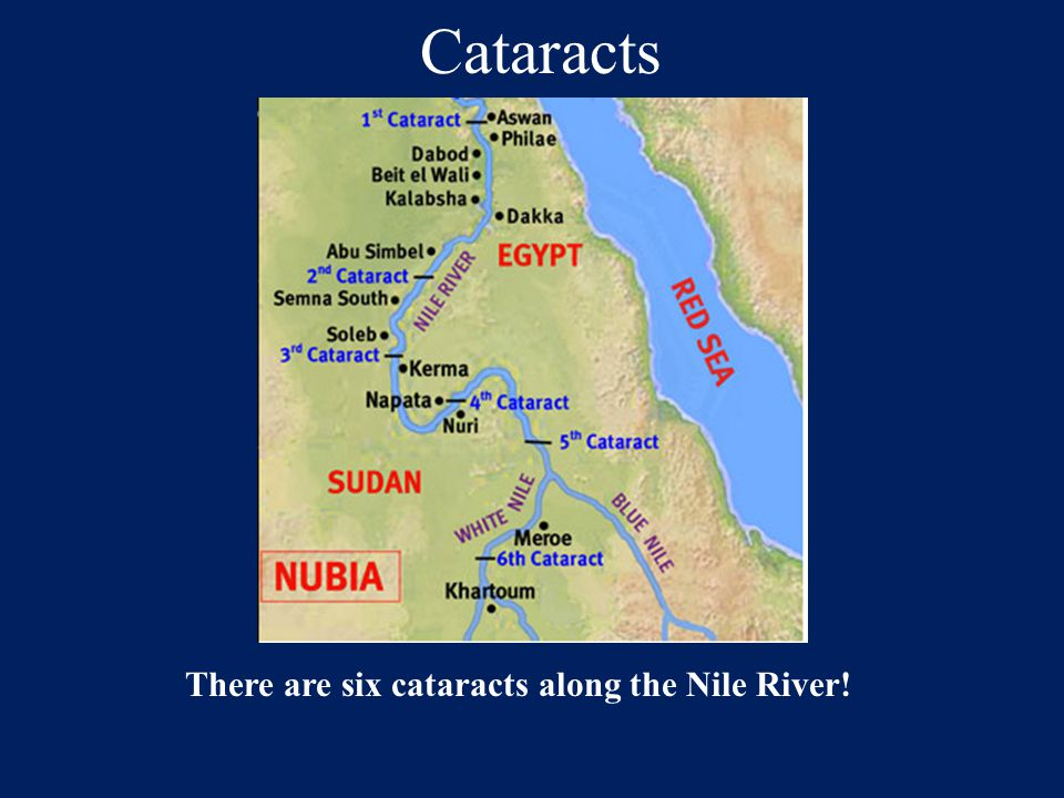 There are six cataracts along the Nile River!