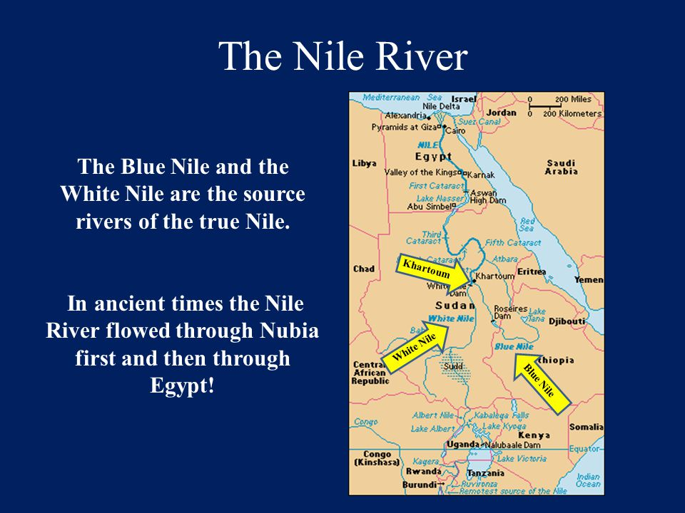 White Nile are the source rivers of the true Nile.