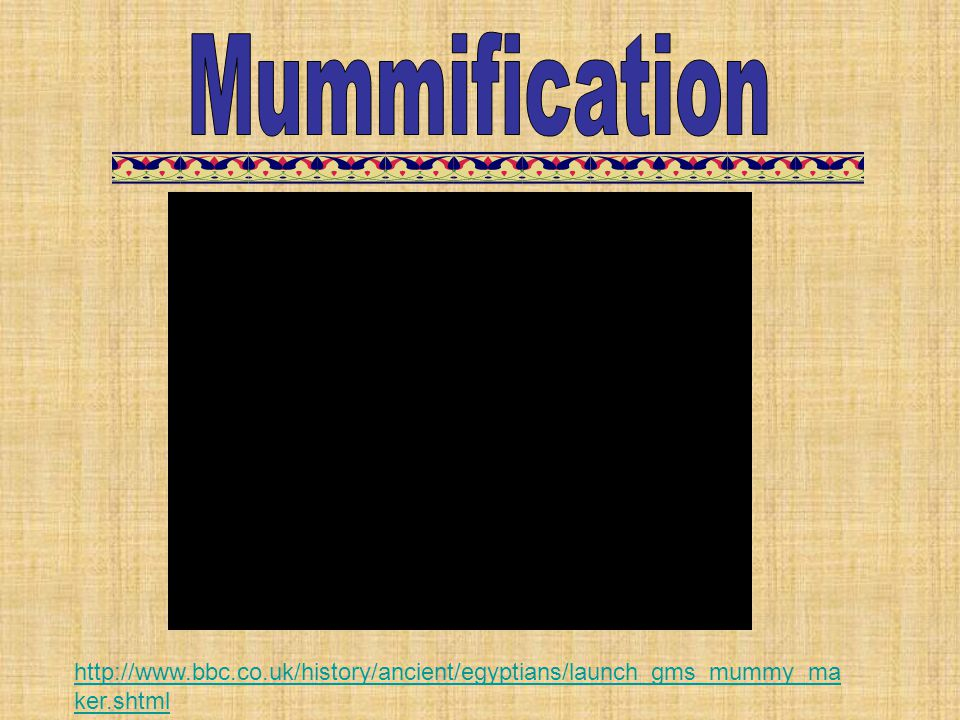 Mummification Mr. Mummy – The Mummification Process 7:07.