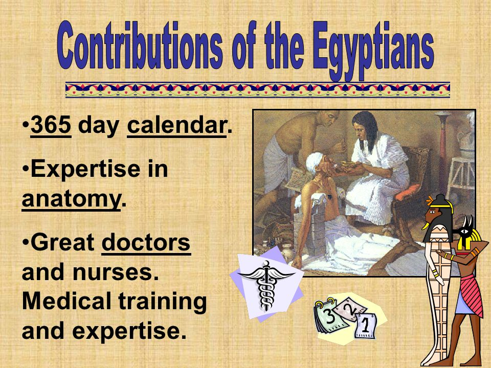 Contributions of the Egyptians