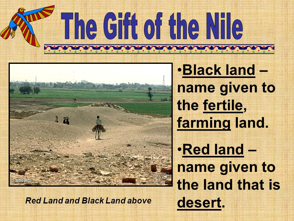 Red Land and Black Land above