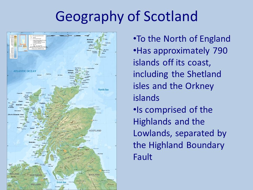 Geography of Scotland To the North of England