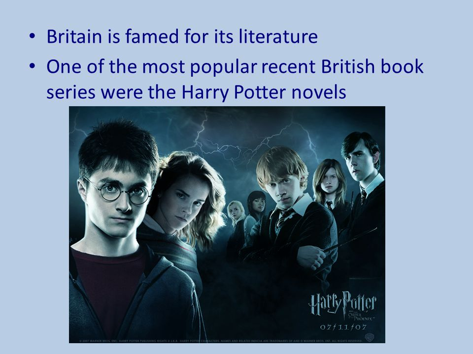 Britain is famed for its literature