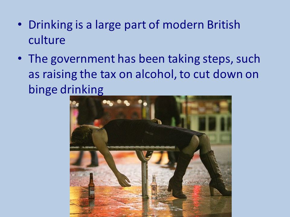 Drinking is a large part of modern British culture