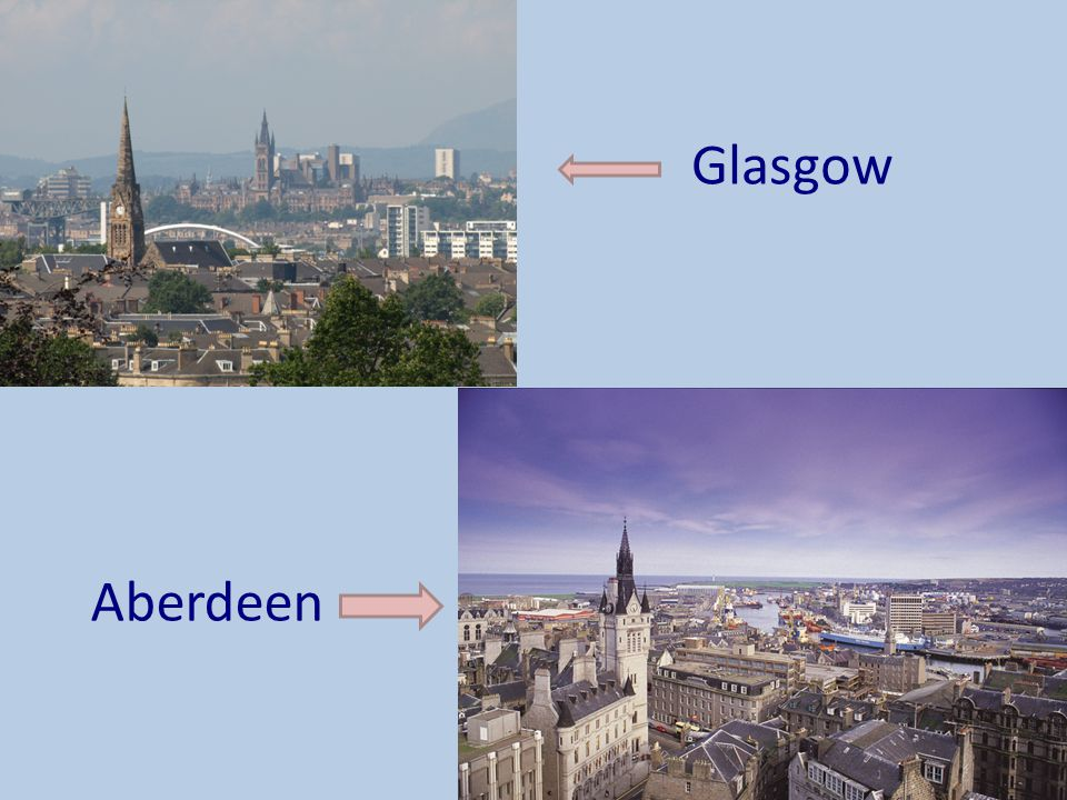 Glasgow Other cities include Glasgow, Aberdeen, Perth and Inverness Aberdeen