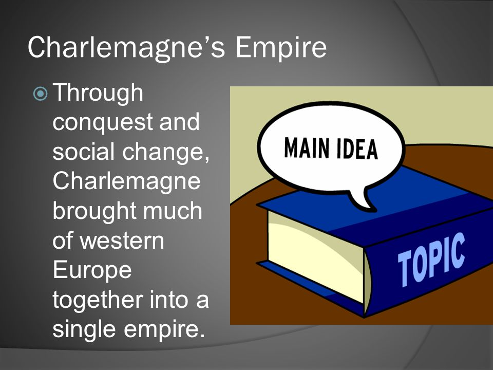 Charlemagne's Empire Through conquest and social change, Charlemagne brought much of western Europe together into a single empire.