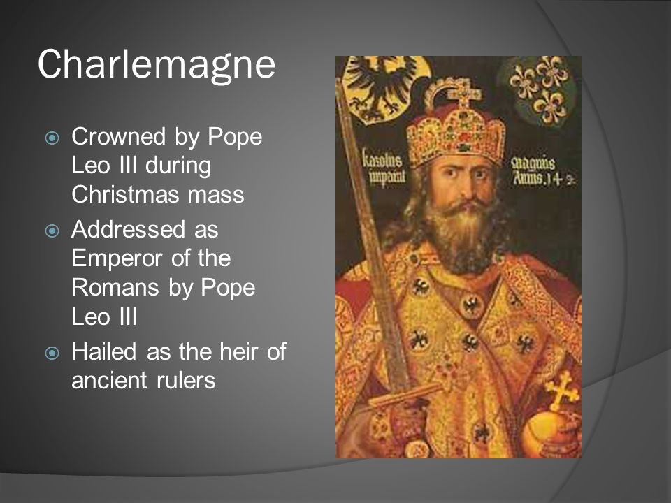 Charlemagne Crowned by Pope Leo III during Christmas mass
