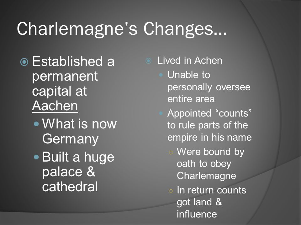 Charlemagne's Changes…