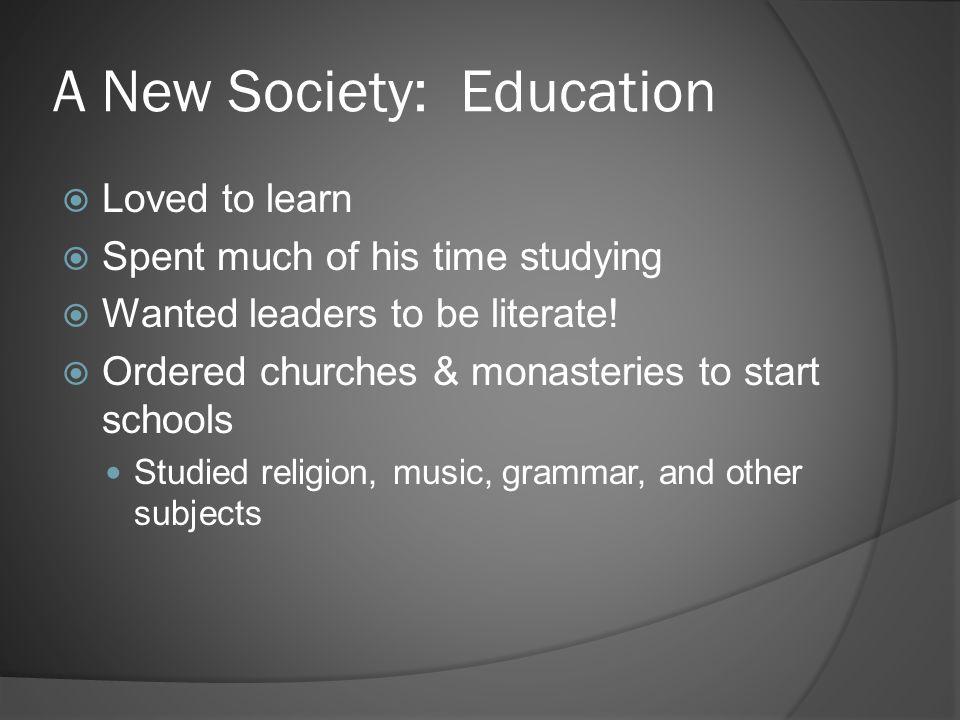 A New Society: Education
