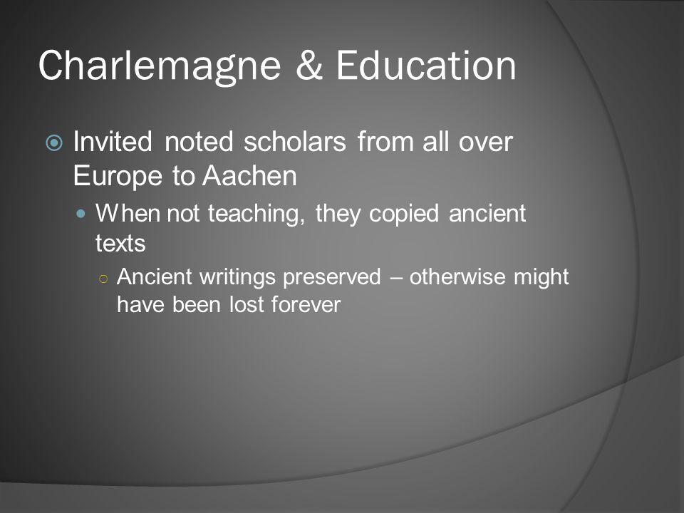 Charlemagne & Education