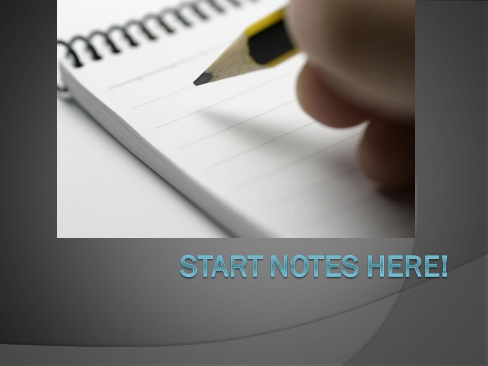 Start notes here!