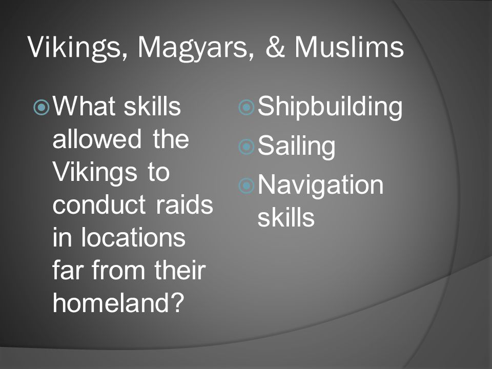 Vikings, Magyars, & Muslims