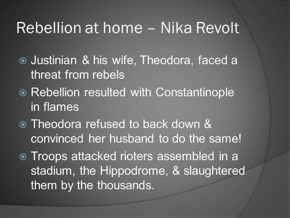 Rebellion at home – Nika Revolt