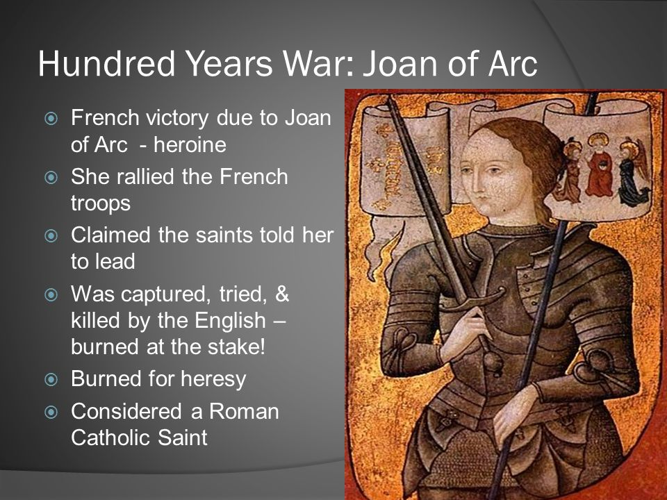 Hundred Years War: Joan of Arc