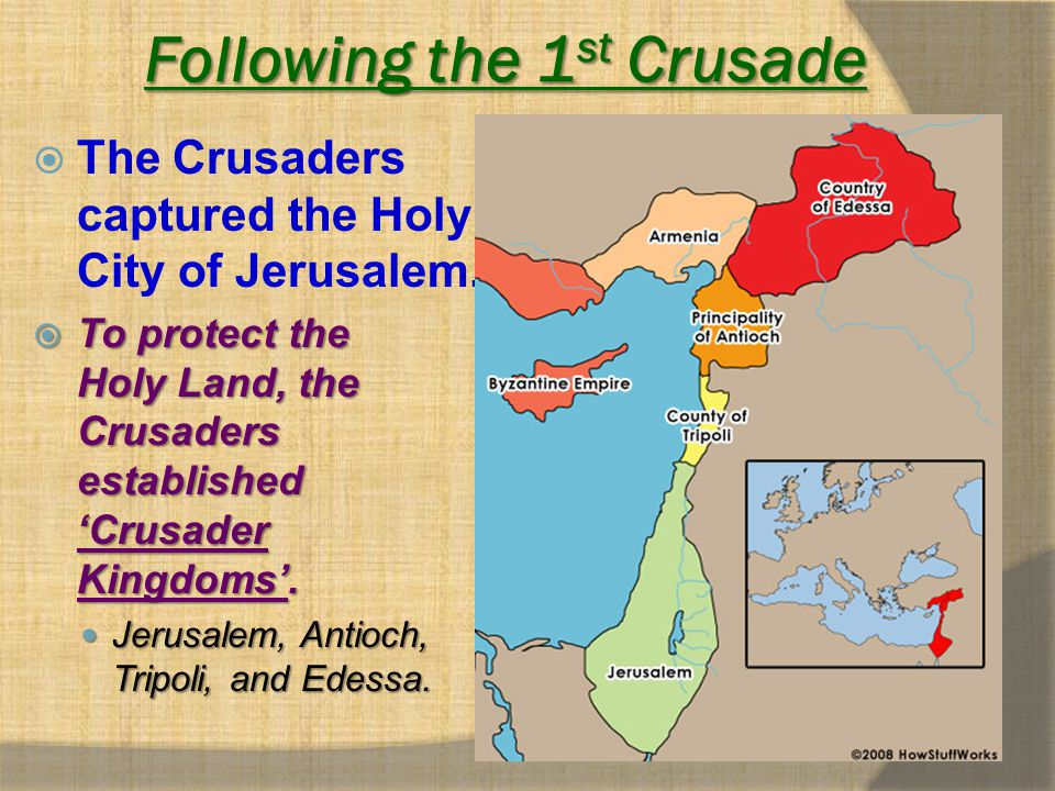 Following the 1st Crusade