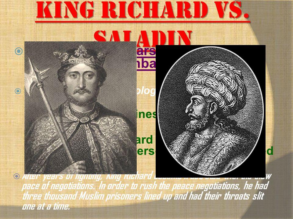 King Richard vs. Saladin