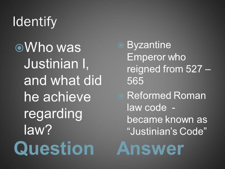 Question Answer Identify
