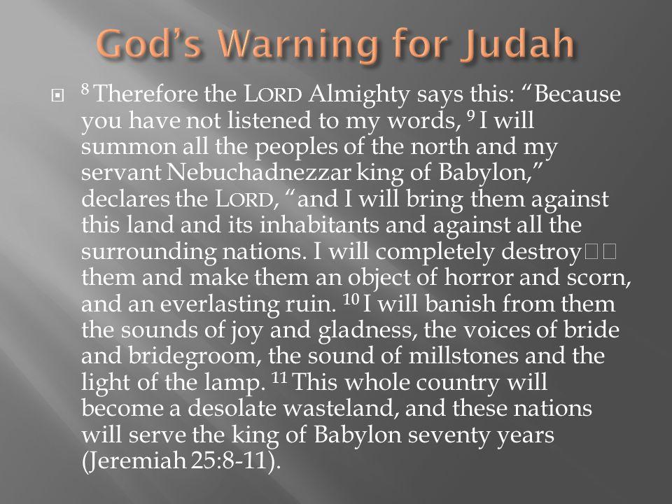 God's Warning for Judah