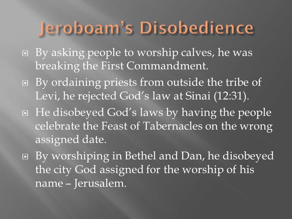 Jeroboam's Disobedience