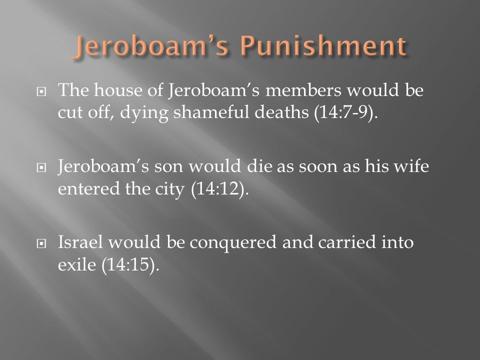 Jeroboam's Punishment