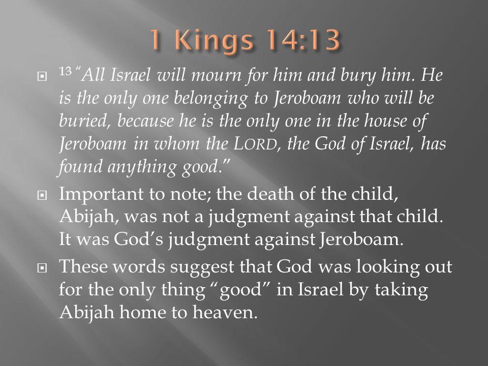 1 Kings 14:13