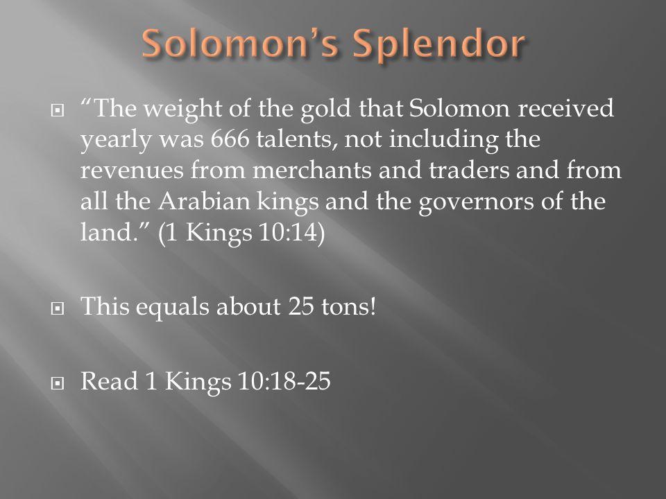 Solomon's Splendor