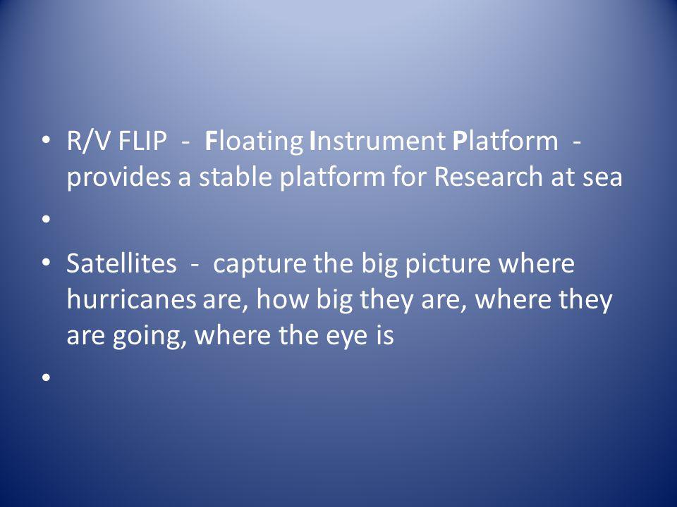 R/V FLIP - Floating Instrument Platform - provides a stable platform for Research at sea