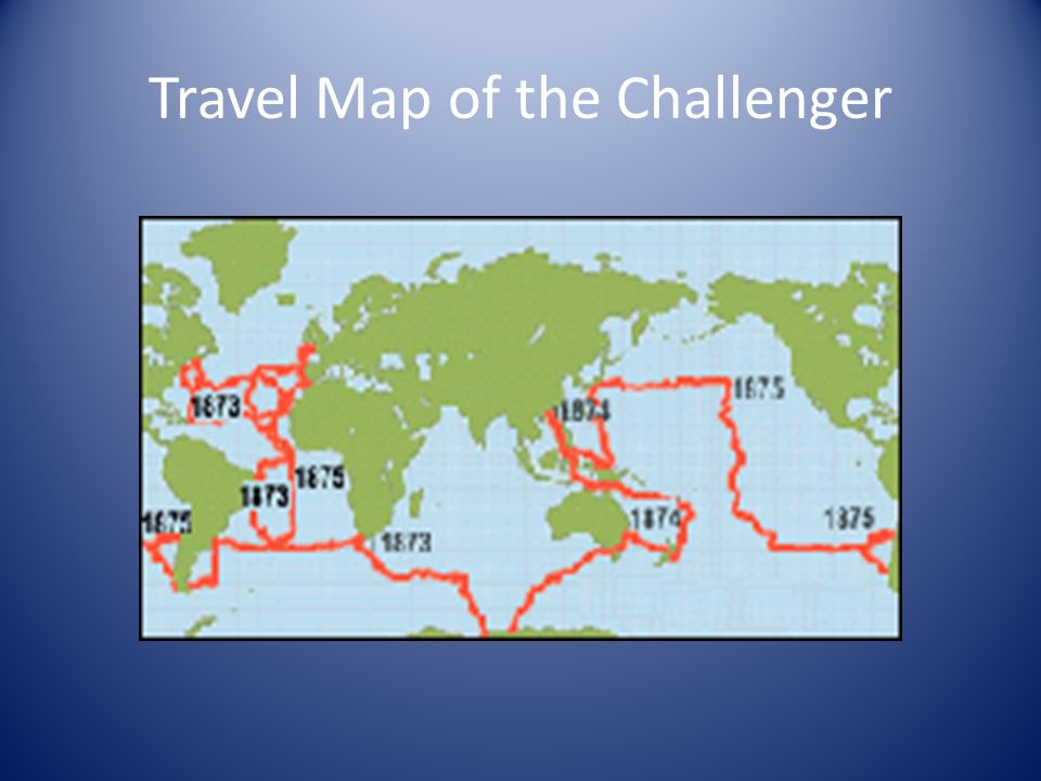 Travel Map of the Challenger