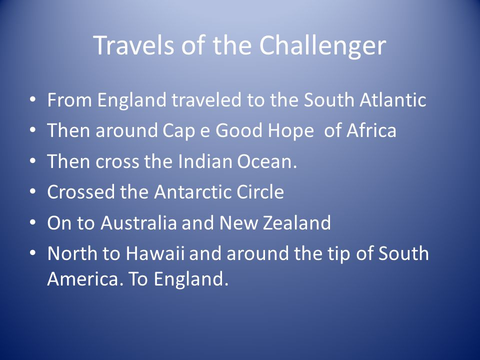 Travels of the Challenger