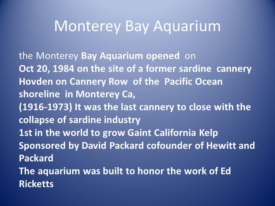 Monterey Bay Aquarium the Monterey Bay Aquarium opened on