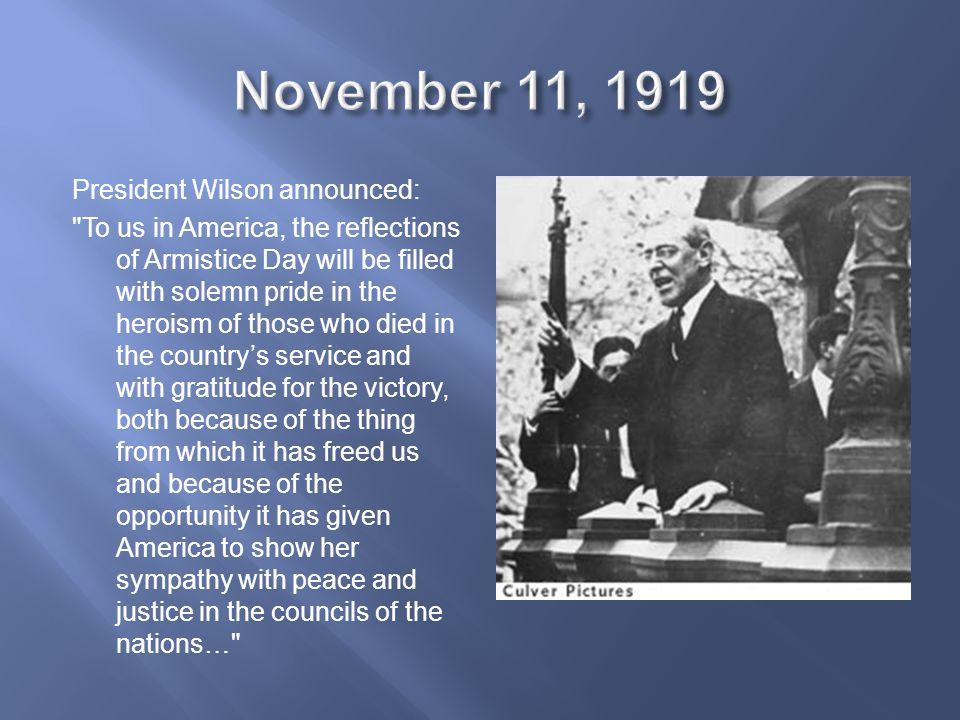 November 11, 1919