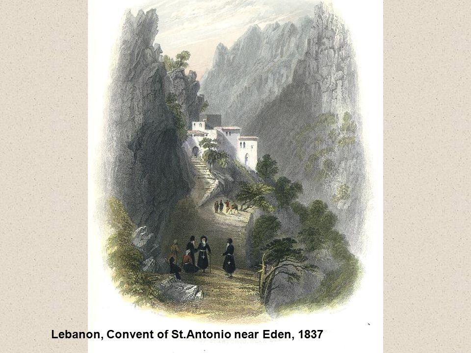 Lebanon, Convent of St.Antonio near Eden, 1837