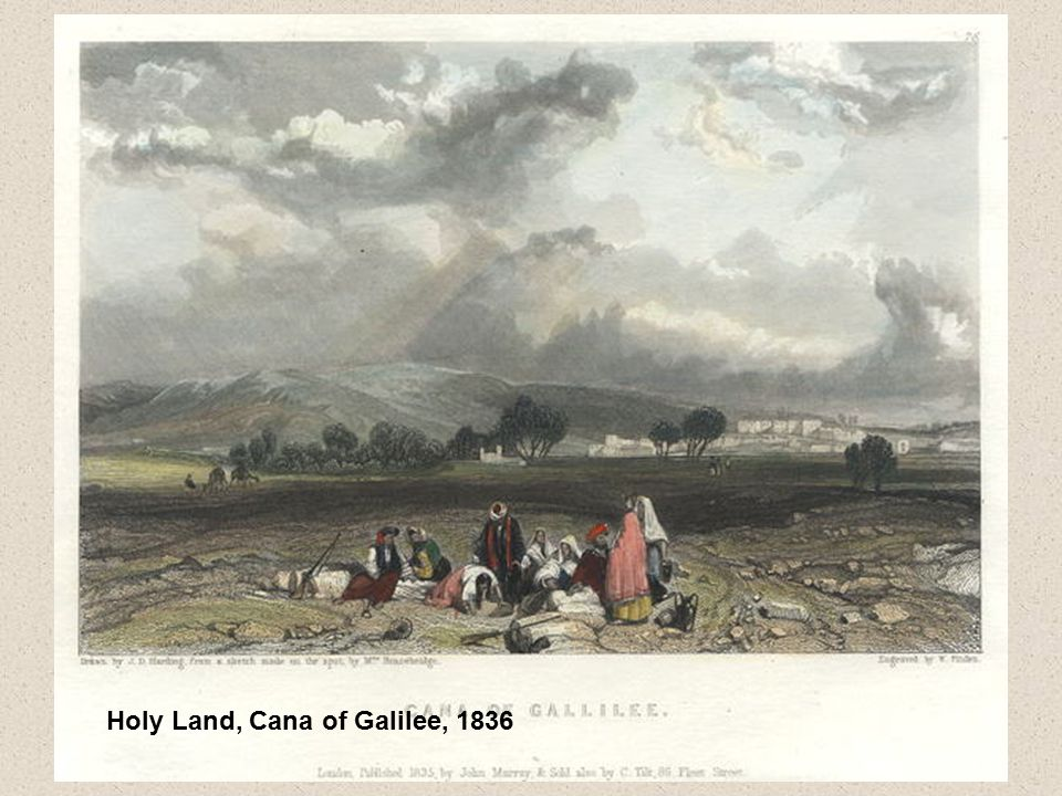 Holy Land, Cana of Galilee, 1836