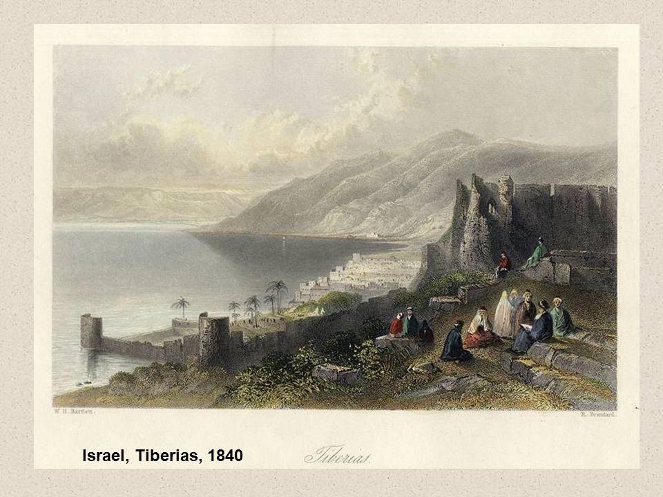 Israel, Tiberias, 1840