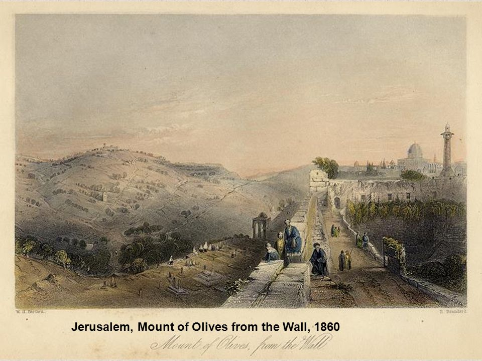 Jerusalem, Mount of Olives from the Wall, 1860