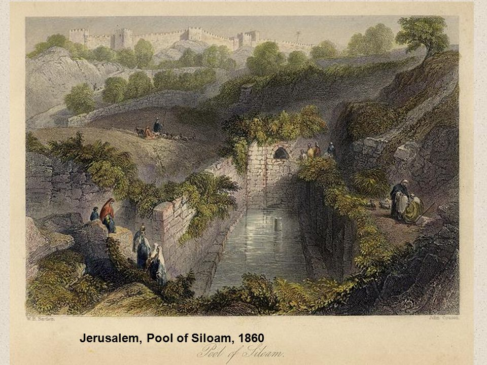 Jerusalem, Pool of Siloam, 1860