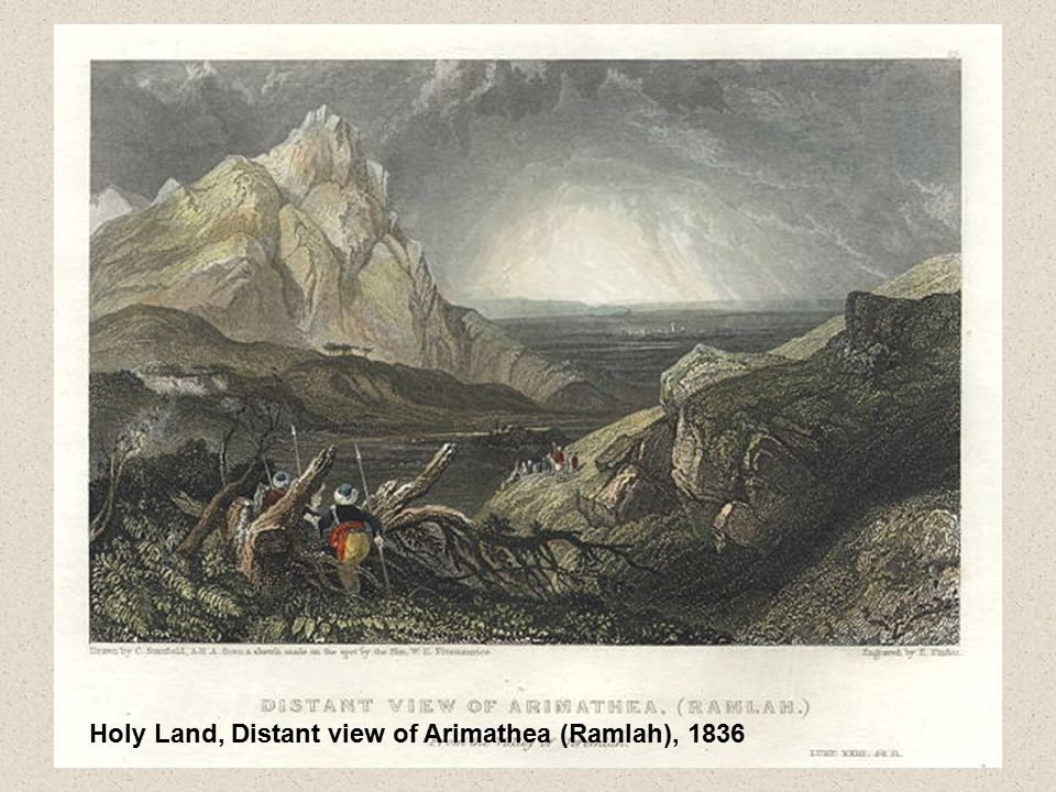 Holy Land, Distant view of Arimathea (Ramlah), 1836