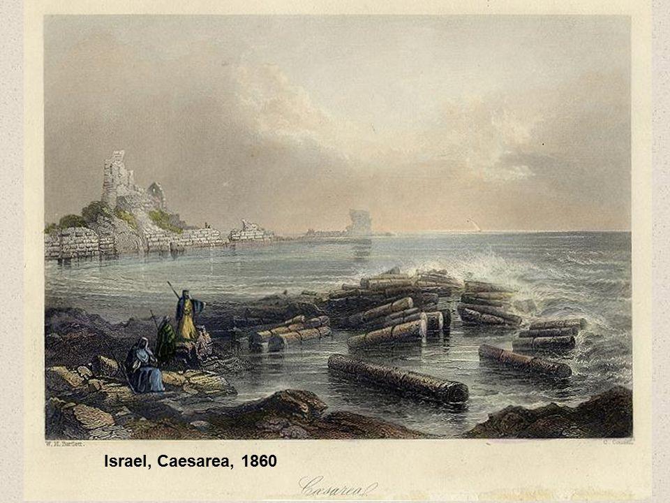 Israel, Caesarea, 1860