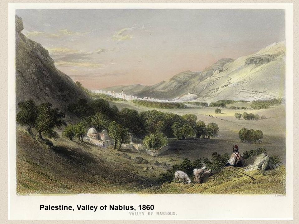 Palestine, Valley of Nablus, 1860