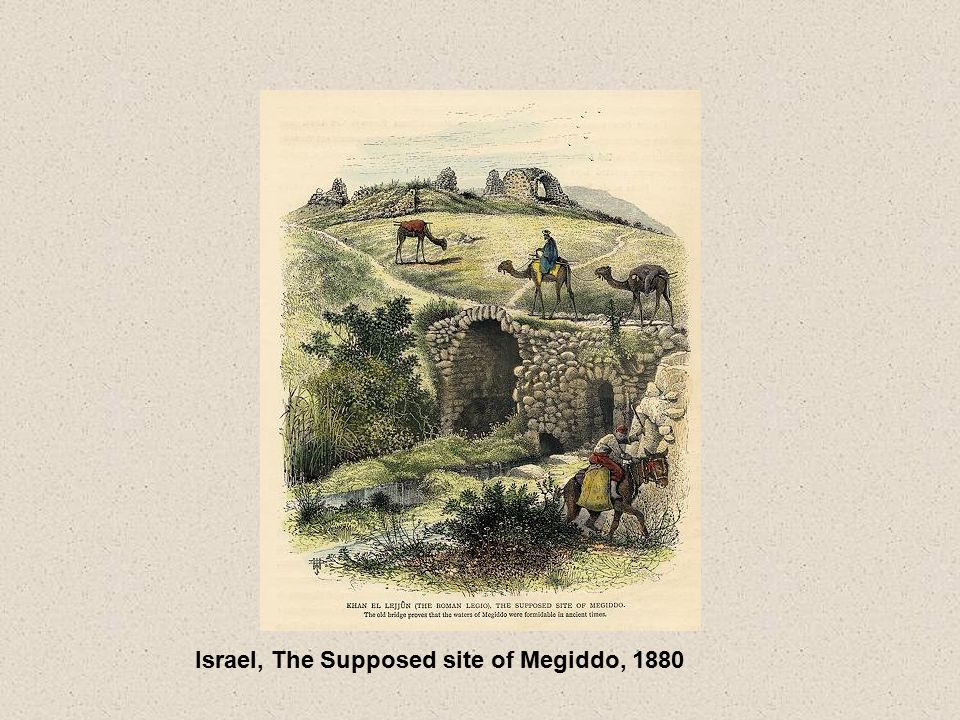 Israel, The Supposed site of Megiddo, 1880