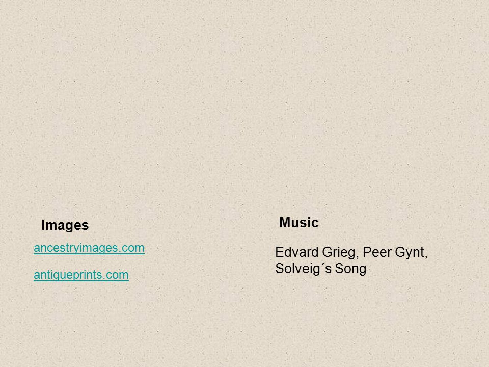 Music Images Edvard Grieg, Peer Gynt, Solveig´s Song